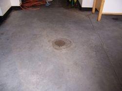 Concrete floor in restaurant